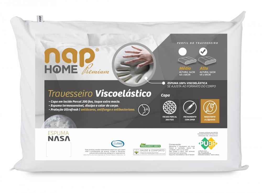 Travesseiro nap Home Premium perfil alto - 16 cm